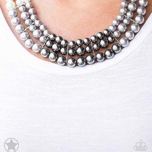 Lady In Waiting, White, Silver, & Dark Grey Pearls